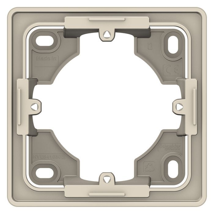 Одноместная коробка для накладного монтажа Schneider Electric Unica Studio, бежевый NU800244 фото