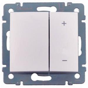 Светорегулятор клавишный 40-400Вт 770062 Legrand Valena цвет белый фото