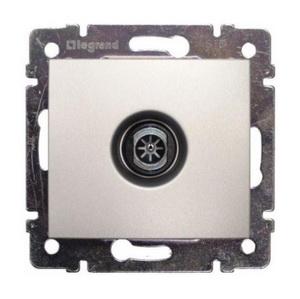 Розетка TV одиночная 2400 МГц подключение-звезда 770129 Legrand Valena цвет алюминий фото