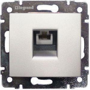 Розетка телефонная RJ11 770138 Legrand Valena цвет алюминий фото
