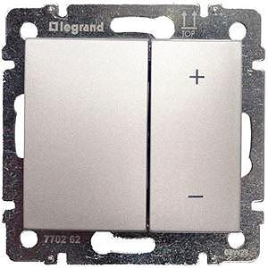 Светорегулятор клавишный 40-400Вт 770262 Legrand Valena цвет алюминий фото