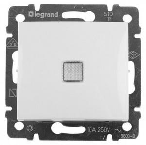 Проходной выключатель с трех мест с подсветкой 774448 Legrand Valena цвет белый фото