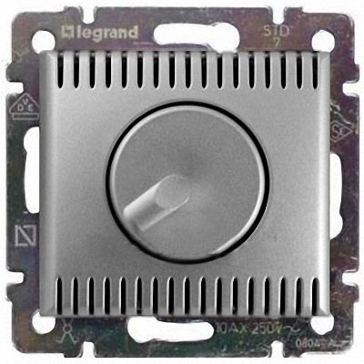 Светорегулятор поворотный 100-1000Вт 770260 Legrand Valena цвет алюминий фото