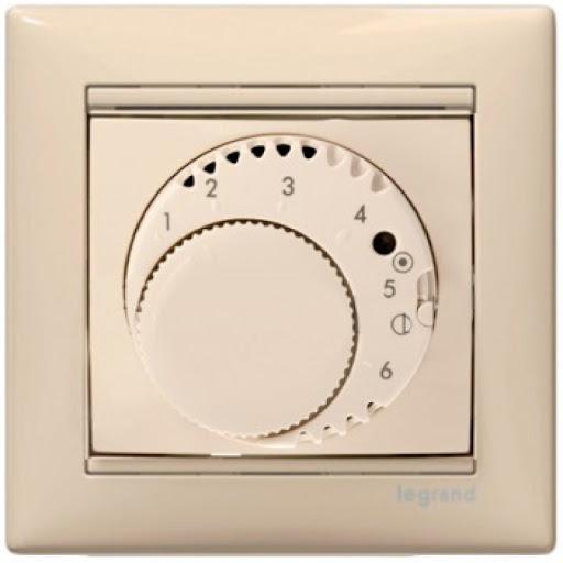 Термостат для теплого пола с датчиком температуры на кабеле длиной 4м 774191 Legrand Valena цвет бежевый фото