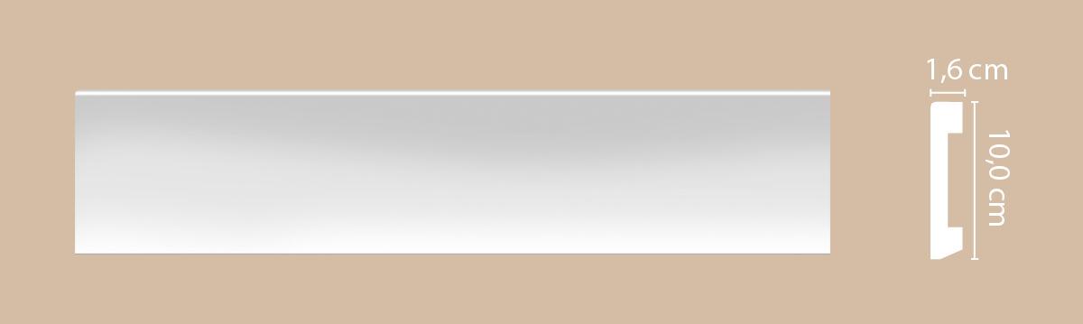Плинтус напольный DECOMASTER A036 100х16х2000.
