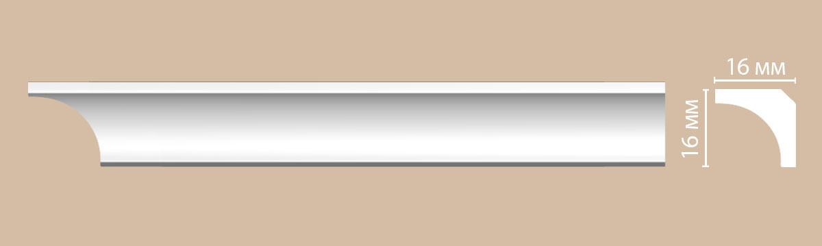 Потолочный плинтус гладкий DECOMASTER 96240 16х16х2400 мм.