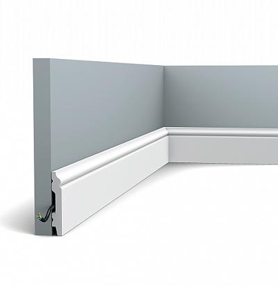 Плинтус напольный Orac Decor SX165 Orac Axxent 2000х69х11 мм с кабель-каналом фото