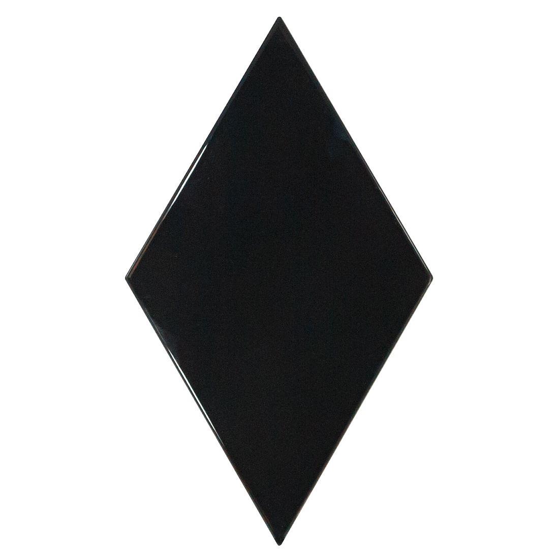 Керамическая плитка для стен EQUIPE RHOMBUS Wall Black фото