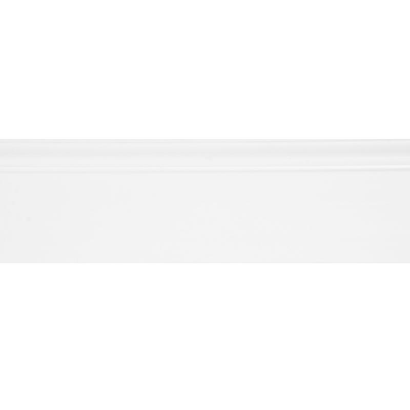 Плинтус напольный Дюрополимер под покраску белый 120мм 2м фото