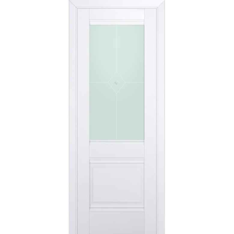 Комплект распашной двери Profildoors 2U (Аляска) 2000х600-800х36 мм (коробка, наличники, добор) фото