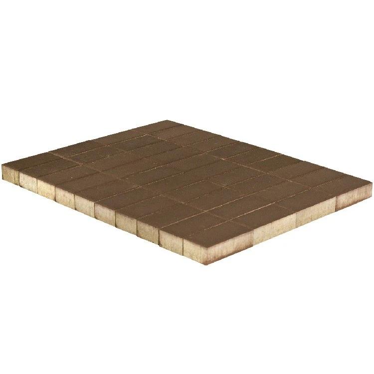 Braer Прямоугольник, 200х100х40 мм, Плитка тротуарная коричневая фото