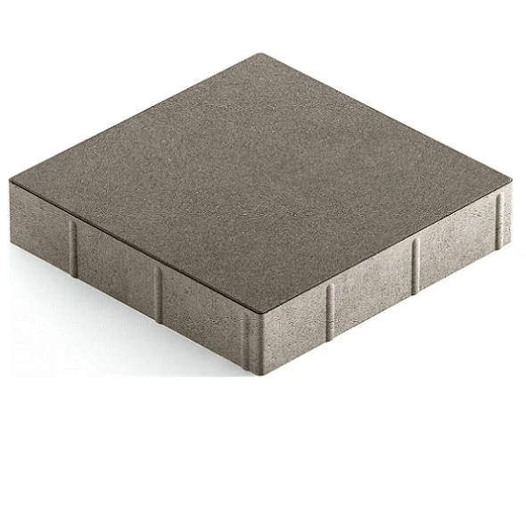 Steingot Практик 60, 300х300х60 мм, Плитка тротуарная квадратная полный прокрас серая фото
