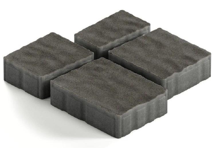 Steingot Гранито, 60 мм, Плитка тротуарная мультиформатная частичный прокрас черная фото