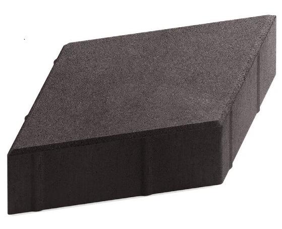 Steingot Практик 60, 200х200х60 мм, Плитка тротуарная ромбовидная полный прокрас черная фото