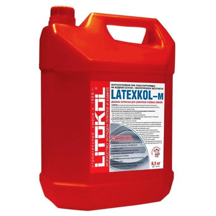 Добавка латексная для цементных клеевых смесей Litokol Latexkol-m 8.5 кг.