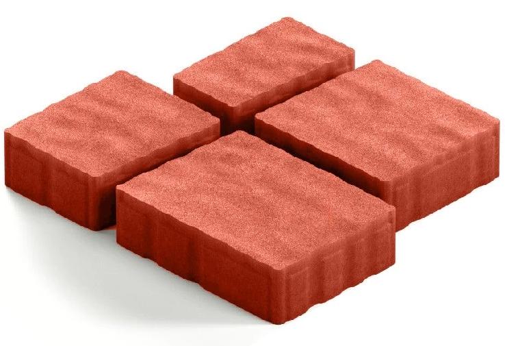 Steingot Гранито, 60 мм, Плитка тротуарная мультиформатная полный прокрас красная фото