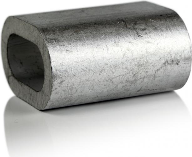 Зажим для троса 3 мм DIN 3093 (алюминиевая втулка)
