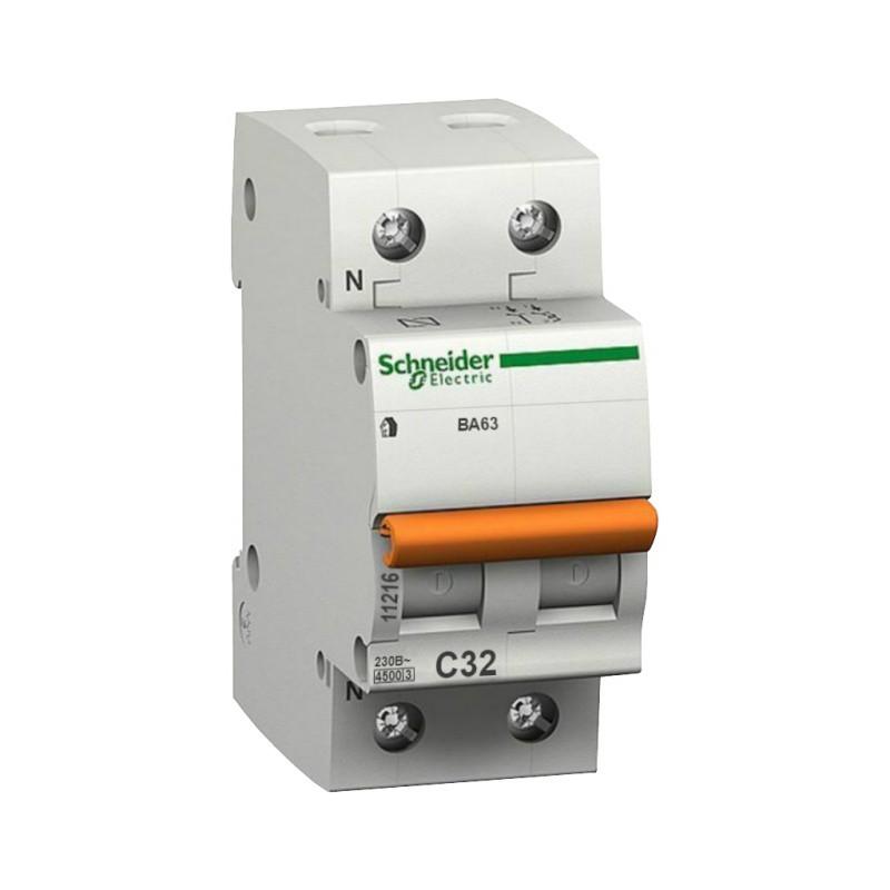Автоматический выключатель Schneider Electric Домовой ВА63 1P+N C 32A 4,5кА фото