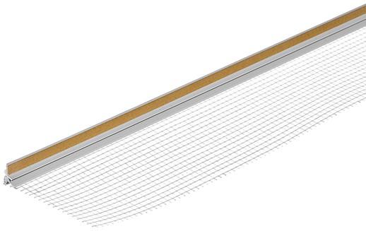 Профиль примыкания оконный самоклеящийся (с сеткой 9 мм), длина 2.4 м фото