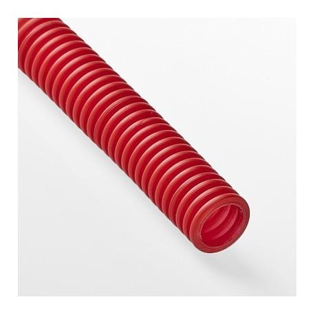 Труба гофрированная ПНД Рувинилл для металлопластиковых труб красная 20 мм.