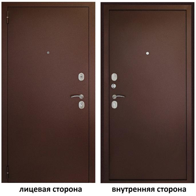 Дверь входная Дверной континент Иртыш 100 левая медный антик - медный антик 860х2050 мм.