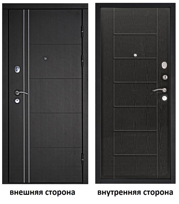 Дверь входная Дверной континент Теплолюкс правая венге - венге 860х2050 мм.