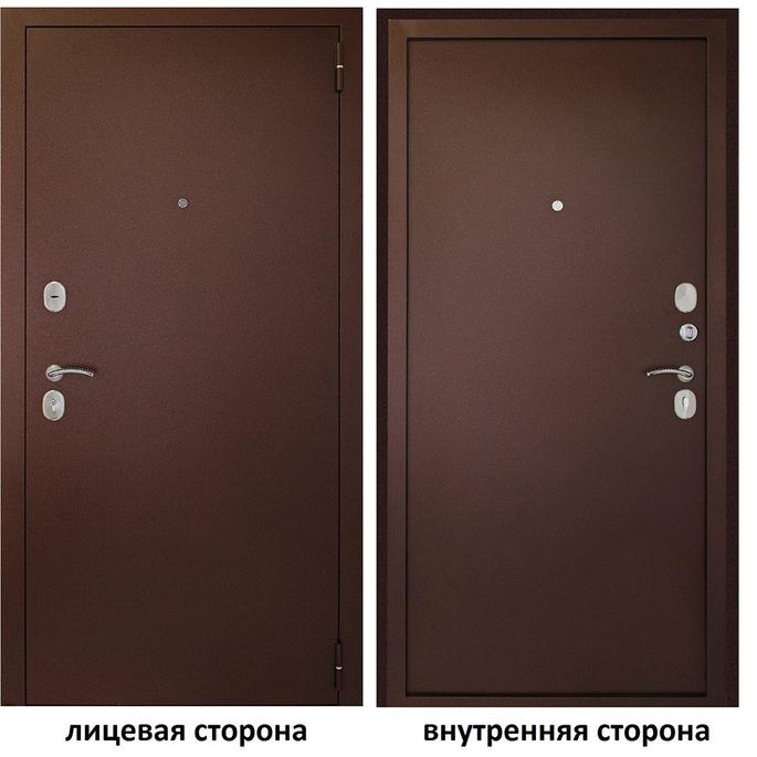 Дверь входная Дверной континент Иртыш 100 правая медный антик - медный антик 960х2050 мм.