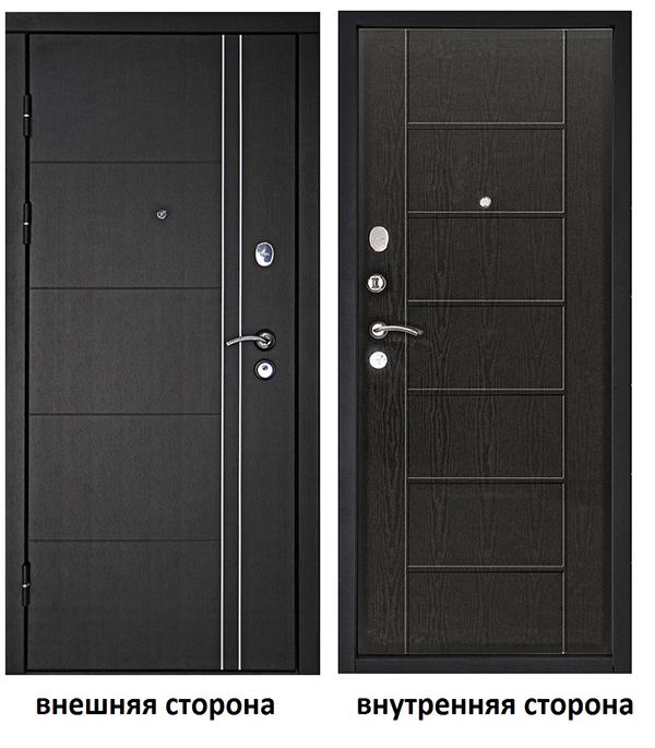 Дверь входная Дверной континент Теплолюкс левая венге - венге 860х2050 мм.