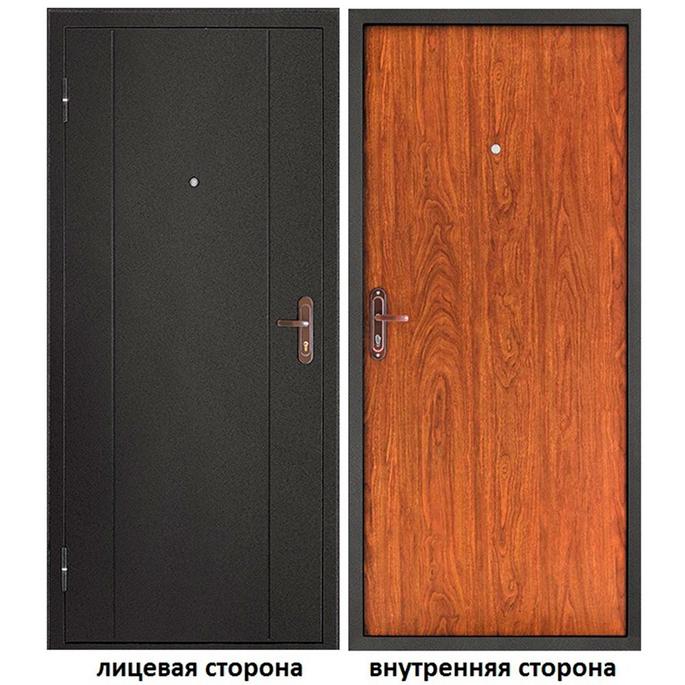 Дверь входная Форпост 53 левая темный антик - орех 880х2050 мм фото