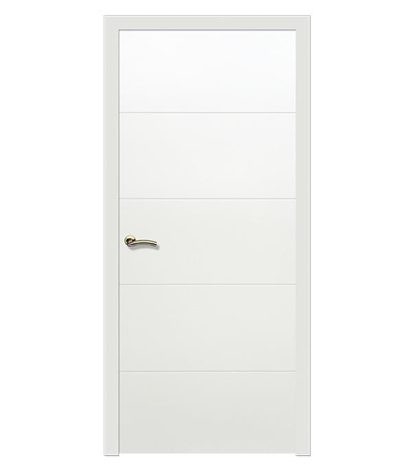 Дверное полотно РЖЕВДОРС 0603 глухое шпон дуба белая эмаль 900х2000 мм фото