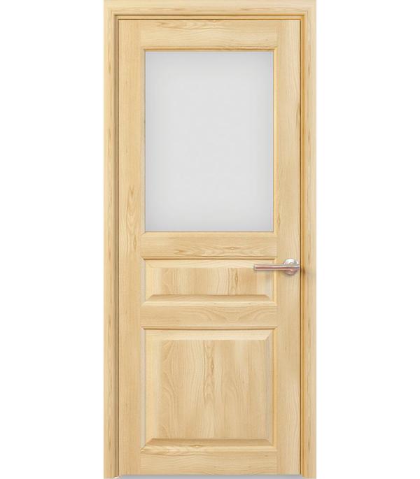 Дверное полотно РЖЕВДОРС 4310 Сатинато со стеклом массив без покрытия 900x2000 мм фото