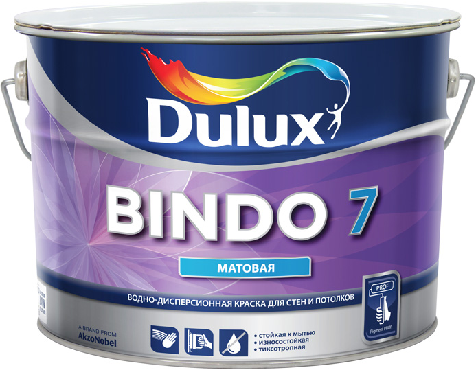 Dulux Bindo 7 5 л, Краска интерьерная латексная (белая) фото