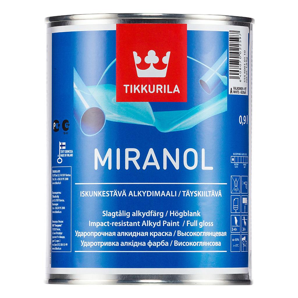 Tikkurila Miranol 2.7 л, Эмаль алкидная универсальная (белая) фото