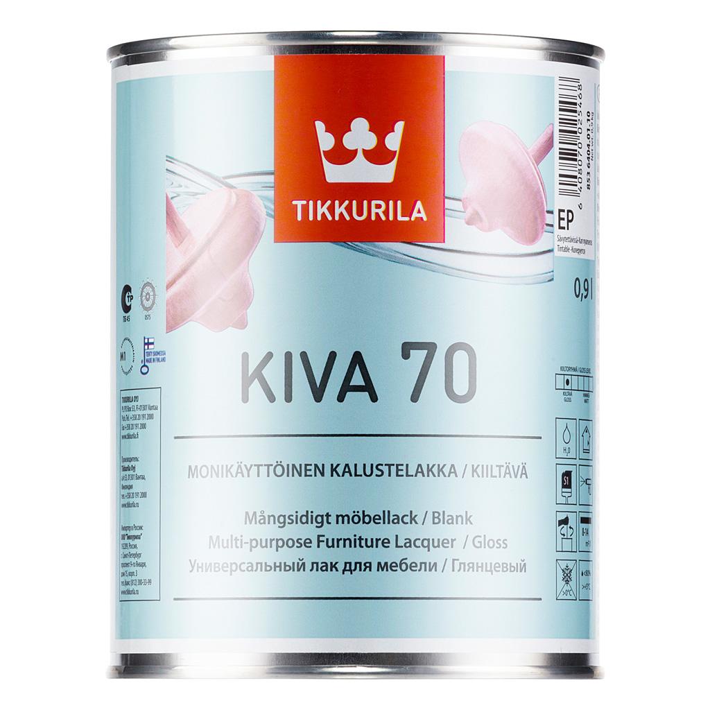 Tikkurila Kiva Kalustelakka, 0.9 л, Лак для дерева прозрачный глянцевый фото