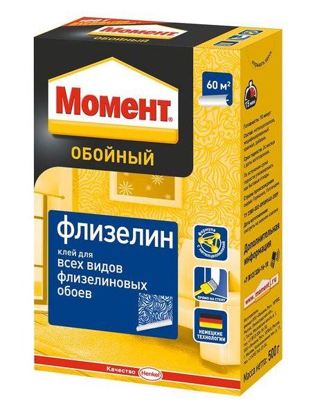 Момент Флизелин 500 г, Обойный клей для флизелиновых обоев, фото