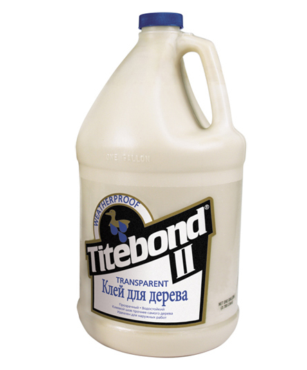 Titebond II Transparent Premium Wood Glue, 3.8 л, Клей ПВА фото