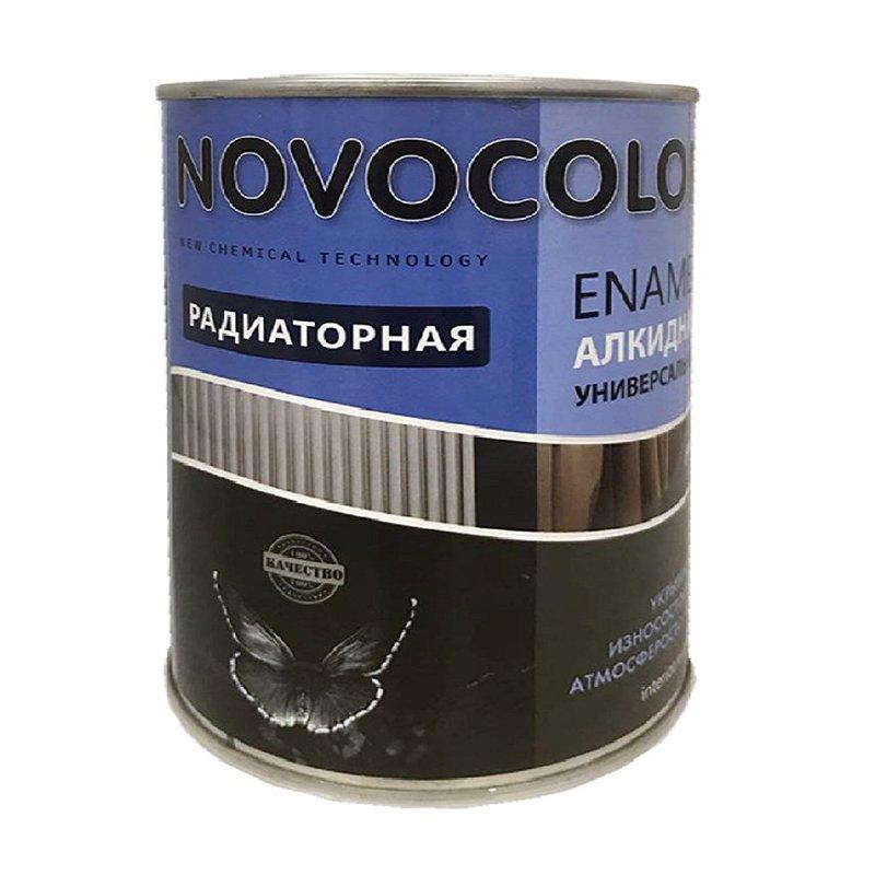 Эмаль для радиаторов Novocolor белая 0.9 кг.