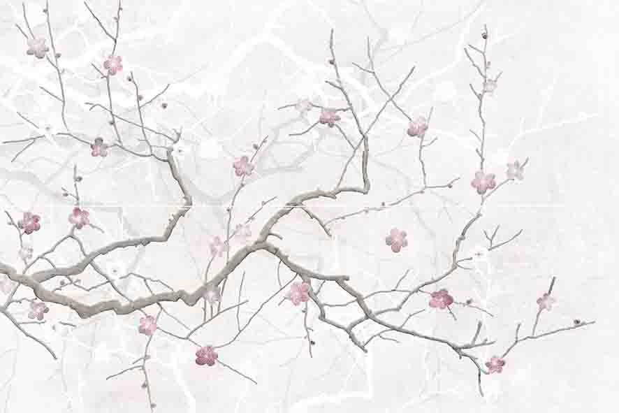 Cersanit Haiku HI2U522DT панно (светло-серое), 50х75 см фото