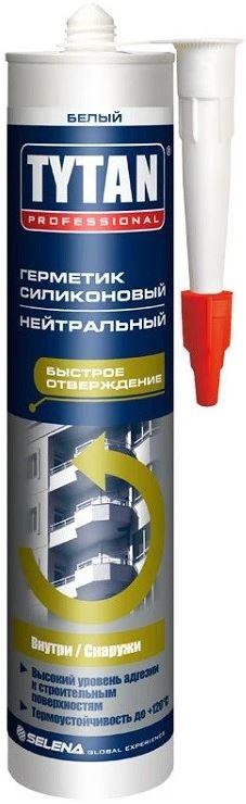 Tytan Professional 310 мл Герметик силиконовый нейтральный (белый).