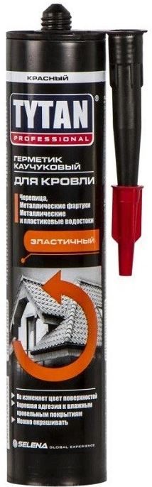 Герметик каучуковый для кровли Tytan Professional (красный) 310 мл.