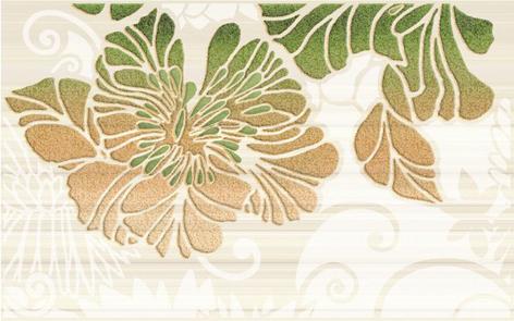 Нефрит Кензо 09-03-85-075-2 декор для плитки (зеленый), 40х25 см фото