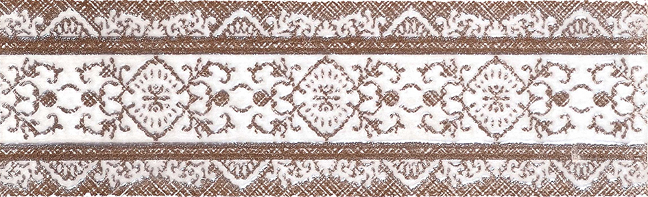 Gracia Ceramica Шамони бордюр (коричневый), 25x7.57 см фото