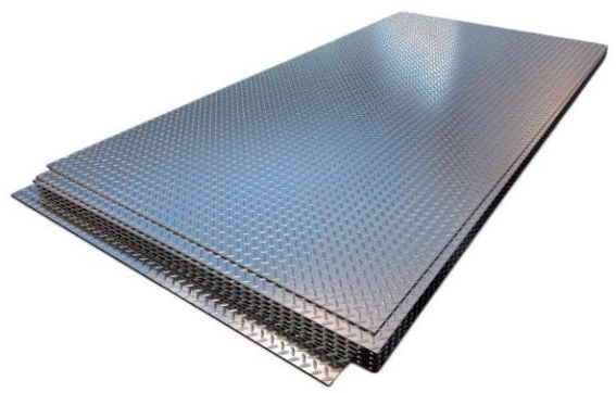 6000х1500 мм, 5 мм, Лист стальной горячекатаный рифленый чечевица фото