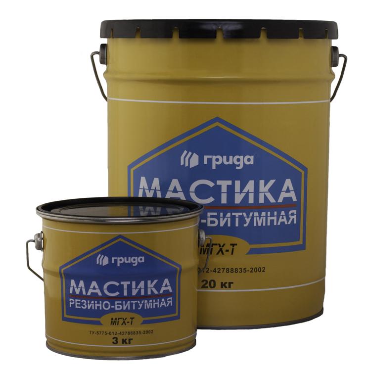 Мастика Грида МГХ-Т, 18 кг, битумно-резиновая фото
