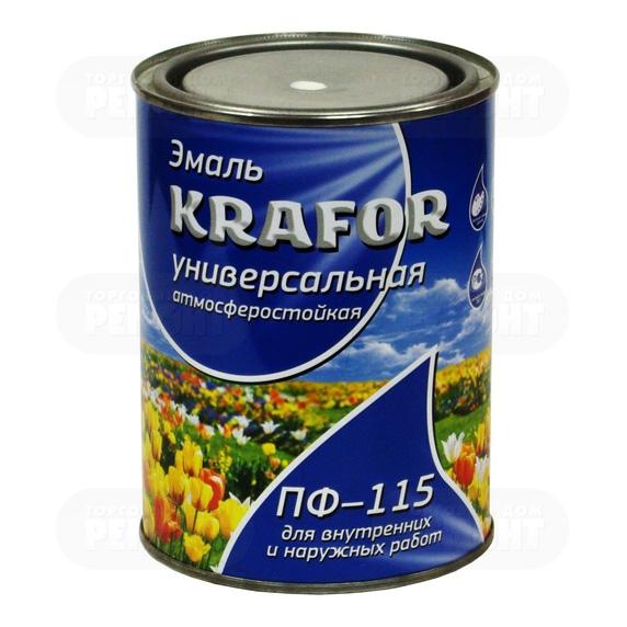 Krafor ПФ-115 1.9 кг, Эмаль алкидная универсальная (белая матовая) фото