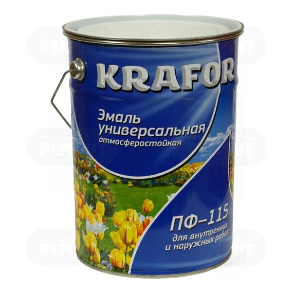 Krafor ПФ-115 6 кг, Эмаль алкидная универсальная (салатная) фото