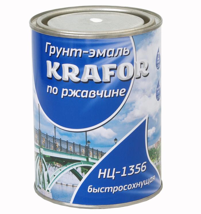 Krafor НЦ-1356 0.7 кг, Эмаль алкидная по ржавчине (голубая) фото