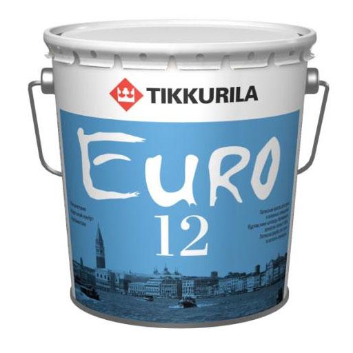 Tikkurila Euro 12 2,7 л, Краска интерьерная латексная (белая) фото