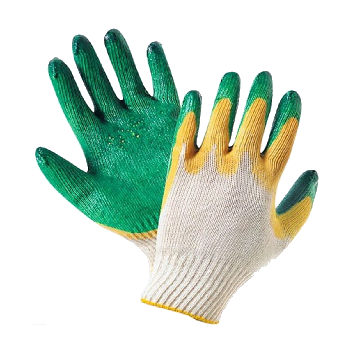 Перчатки ХБ с двойным обливом фото