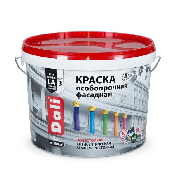 Рогнеда Dali Особопрочная полупрозрачная, 9 л, Краска фасадная по кирпичу и бетону акриловая фото
